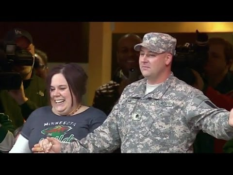Video: Surprise Homecoming at Xcel Energy Center