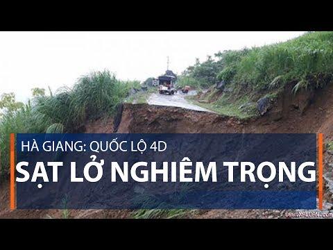 Hà Giang: Quốc lộ 4D sạt lở nghiêm trọng | VTC1 - Thời lượng: 40 giây.