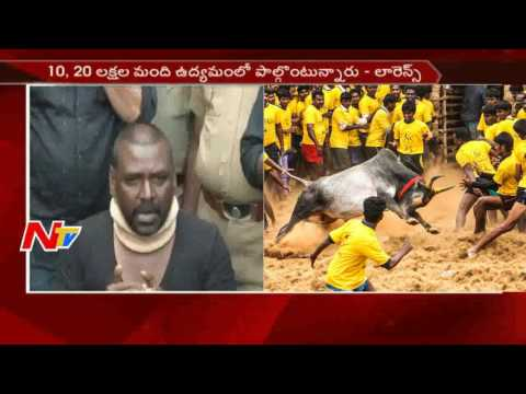 Raghava Lawrence Press Meet about Jallikattu Protest