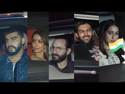 Karan Johar's Diwali Party 2018   Saif Ali Khan, Arjun Kapoor, Malaika Arora, Sara