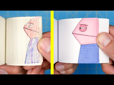 A Guy Remakes His First Flipbook 30 Years Later