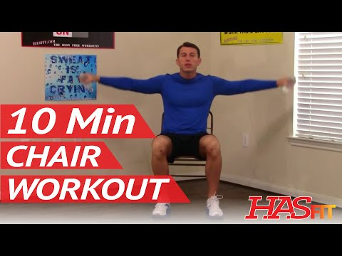 10 Min Chair Workout for Seniors – HASfit Seated Exercise for Seniors – Chair Exercises for Elderly