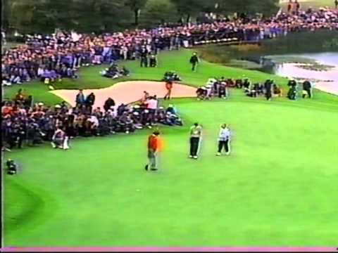 Ryder Cup 1993  Faldo vs Azinger 18th hole