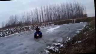 10. Kymco mxr & Suzuki ltz jégen való csapatás