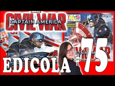 EDICOLA #75: Captain America Avengers Toys Collection Apertura 3 bustine (by Giulia Guerra) (видео)