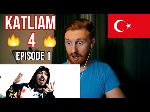 (FIRE!!) KATLIAM 4 (EPISODE 1) // TURKISH RAP REACTION