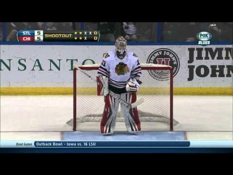 Full shootout Chicago Blackhawks vs St. Louis Blues 12/28/13 NHL Hockey