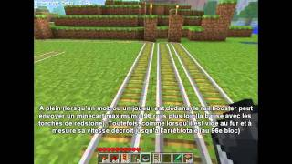 Minecraft Tutorial: Rails Booster/Detectors (Le guide) Part1