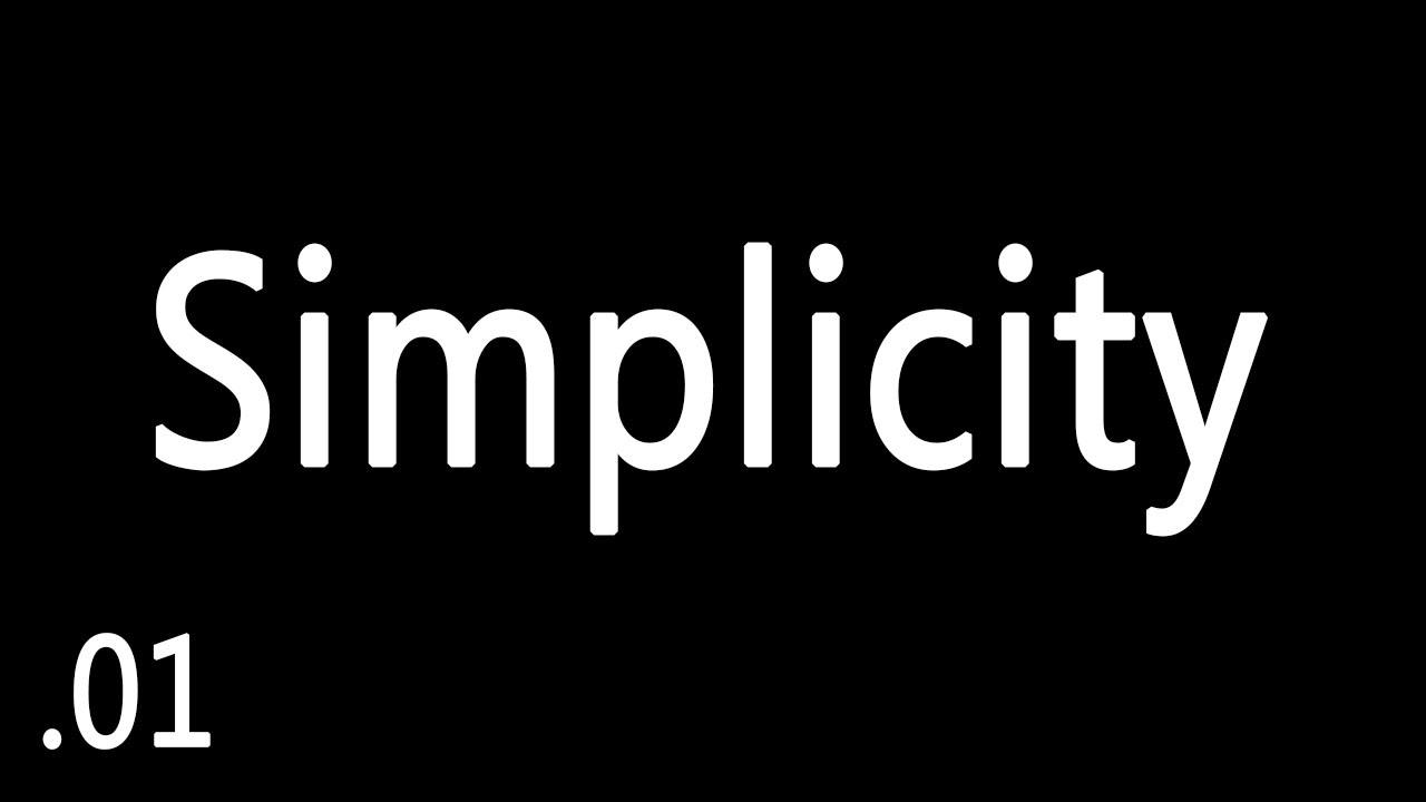 Originalidad – SIMPLICITY – Ep 1
