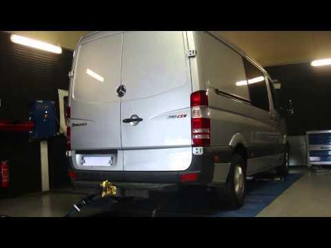 Mercedes Sprinter 318 cdi 184cv @ 253cv reprogrammation moteur dyno digiservices