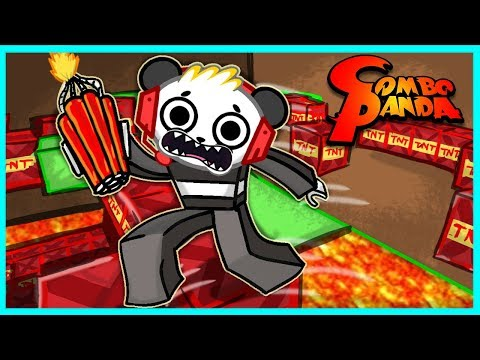 Roblox TNT Rush THE FLOOR IS LAVA Let's Play with Combo Panda (видео)