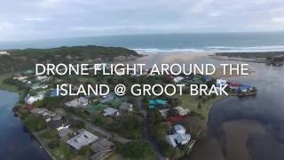 Groot Brak Rivier South Africa  city images : Drone Flight Around The Island at Groot Brak River