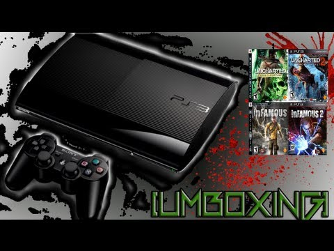 Unboxing PS3 Super Slim 250Gb + Jogos