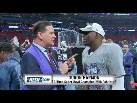Video: Duron Harmon, Deatrich Wise On Field After Super Bowl 53 Patriots vs. Rams