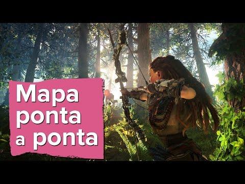 Horizon: Zero Dawn - Tamanho do Mapa - Map size - PS4 Pro (видео)