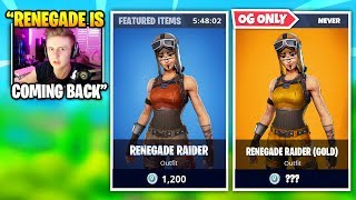 Symfuhny Reacts To Renegade Raider COMING BACK & Gold Renegade | Fortnite Daily Funny Moments Ep.336