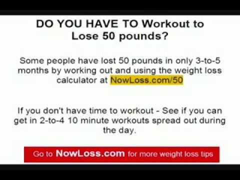Free weight loss exercise program – Lose 50 lbs. in 5 months