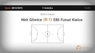 Nbit Gliwice – EBS Futsal Kielce (5 kolejka) - skrót