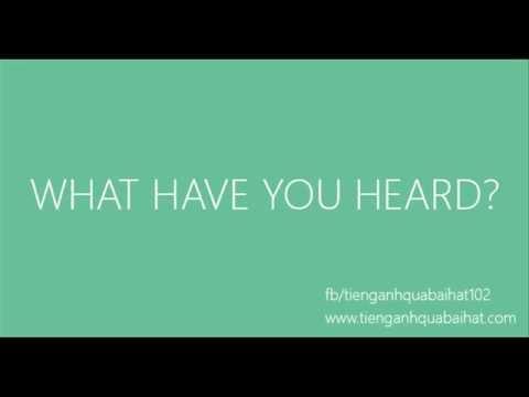 Luyện Nghe Tiếng Anh Qua Bài Hát 015 - Thời lượng: 38 giây.