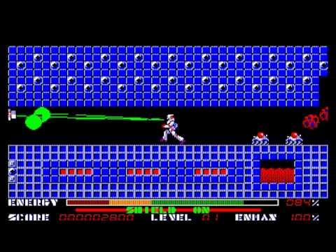 Thexder [テグザー] Game Sample -- PC-98