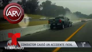 Conductor provocó un accidente fatal | Al Rojo Vivo