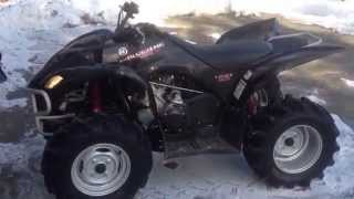 6. 2008 yamaha wolverine 450CC Review start up walk around