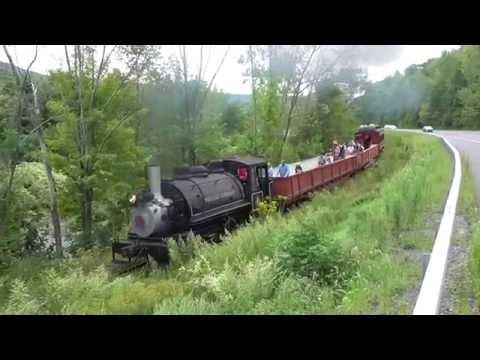 Viscose #6 on the Catskill Mountain Railroad's Esopus Scenic Train www.savetherails.org (видео)