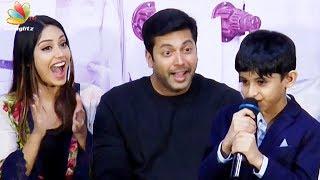 Video Hats off to myself! : Jayam Ravi's Son Cute Speech | Aarav, Nivetha Pethuraj | Tik Tik Tik MP3, 3GP, MP4, WEBM, AVI, FLV April 2018