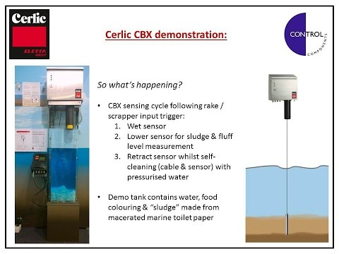 Cerlic CBX sludge blanket monitor in action - demonstration