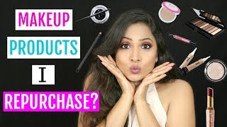 Stalk me - https://goo.gl/1gmCTAMakeup Products I Repurchase? Its no secret that I consume a lot of makeup products so when it comes to refill/repurchase I have my ultimate favourites list so don't miss out on this one.Don't forget to LIKE, SHARE & COMMENT!!Click here to Shop for latest Offers:https://goo.gl/qGr7CBPRODUCTS SHOWN--------------------------------Nivea For Men Sensitive After Shave Balm https://goo.gl/h3nJGKL'Oreal Paris Infallible 24h Foundation - 150 Radiant Beige https://goo.gl/P4BKmNThe Body Shop Tea Tree Flawless BB Cream - 02 Medium https://goo.gl/ahezXPL.A. Girl Pro Conceal HD - Medium Bisque https://goo.gl/Bxk7UnL'Oreal Paris Mat Magique All-In-One Pressed Powder G7 Golden Amber https://goo.gl/ET41KTL'Oreal Paris Lucent Magique Blush Blushing Kiss - 03 Blushing Kiss https://goo.gl/YzAzEoL.A Girl Shady Slim Brow Pencil - Black https://goo.gl/rBZHFDLakme Absolute Kohl Ultimate Kajal - Black https://goo.gl/LW4zwbMaybelline New York Eye Studio Lasting Drama Gel Eyeliner - Black https://goo.gl/seSq3WDeborah Divine Volume & Curves Mascara https://goo.gl/AHmdYDNykaa 24H Vinyl Luxe Eyeliner https://goo.gl/Qjwm5eMakeup Revolution Pro Highlighter - Illuminate https://goo.gl/uV6FdALakme Absolute Illuminating Eye Shadow Palette - Silver https://goo.gl/v1oC14L'Oreal Paris Color Riche La Palette - Nude Beige https://goo.gl/gdFZnbFaces Ultime Pro Matte Lip Crayon - Really Rust 07 With Faces Sharpener https://goo.gl/48EDFdFaces Ultime Pro Matte Lip Crayon - Blushing Nude 21 https://goo.gl/azwHa7Faces Ultime Pro Matte Lip Crayon - Brunette 20 https://goo.gl/7KeMPyPAC Retro Matte Gloss - 20 https://goo.gl/gcwh1cNykaa Paintstix - Peaches n Cream 04 https://goo.gl/47yMJJPAC Colourlock Longlasting Lipliner https://goo.gl/jropCYLakme 9 to 5 Primer + Matte Lip Color - MP7 Rosy Sunday https://goo.gl/Y1jQTSRELATED MAKEUP VLOGS ---------------------------------------------Under Rs 200/- Budget - 25 MUST TRY Affordable Makeup & Beauty Productshttps://youtu.be/O5H28-SF0xcA