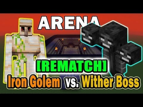 Minecraft Arena Battle Iron Golem vs. Wither Boss [REMATCH]