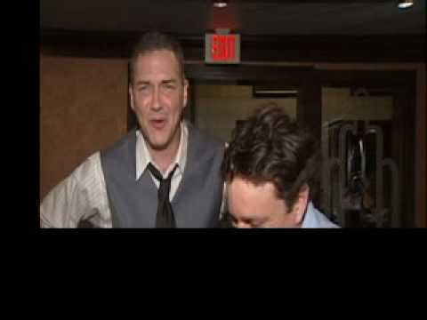 Chris Kattan & Norm MacDonald joking around.