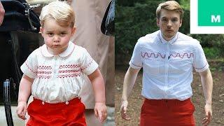 فيديو طريف لشاب عمره 23 عاماً يرتدي نفس ملابس الأمير جورج