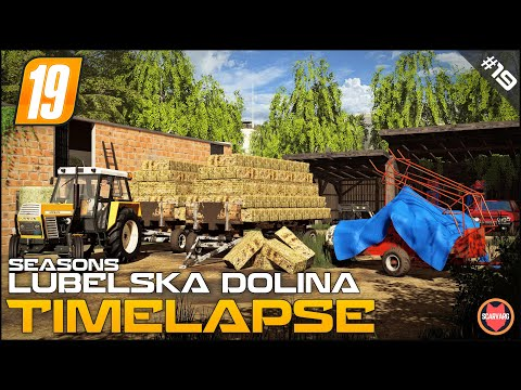 Small square straw bales madness ⭐ FS19 Lubelska Dolina Seasons Timelapse