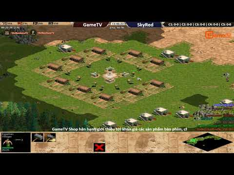 AOE | 4vs4 Random GameTV vs Skyred ngày 16 11 2017.BLV:G_man