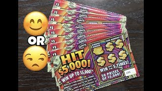Scratching $1 HIT $5,000 Florida Lottery Scratch Off Tickets. Will I find a big win? Stay tuned. Join me on Facebook: https://www.facebook.com/TexanCandy/    Fan Mail:Candy PO Box 241763San Antonio, TX 78224