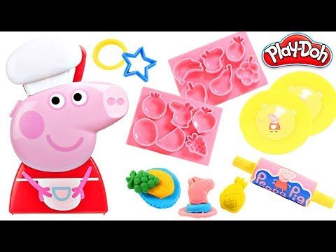 Mejores Videos Para Niños - Peppa Pig Mega Dough Set Cooking With Play Doh Fun Children Videos