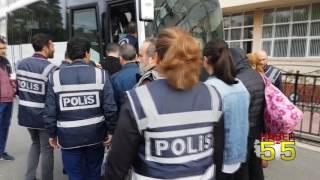 SAMSUN'DA FETÖ'DEN GÖZALTINA ALINAN POLİSLER ADLİYEDE