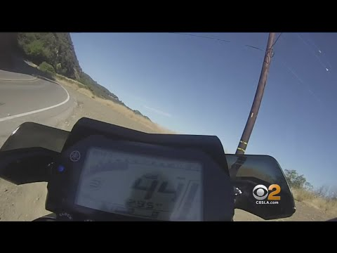First Person POV Of Motorcyclist Surviving 250Foot Fall Down