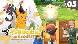 SHINY CHANSEY AND LT SURGE!! Pokémon Let's Go Pikachu Shiny Quest Let's Play! Episode 5 by aDrive