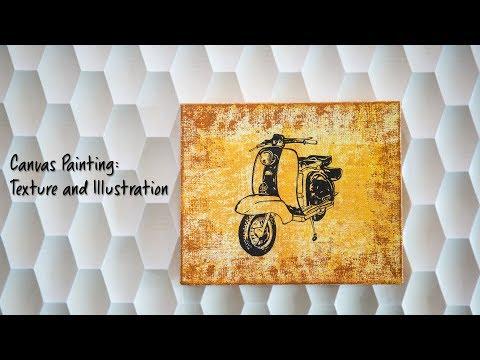 Canvas Painting: Texture & Illustration