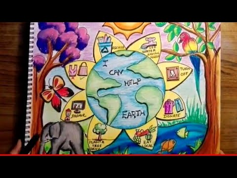 world environment day drawing save earth save planet drawing poster