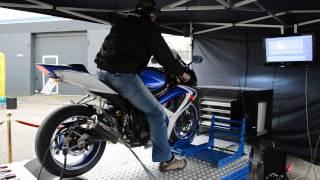5. Topspeed Run Suzuki GSX-R 600 K6 op de Testbank bij DCA Motorcycles