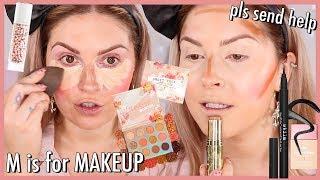 Doing My Makeup In Alphabetical Order 🆘 MAKEUP CHALLENGE by Shaaanxo
