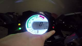 4. 2008-2010 ZX10r Gauge features and Settings