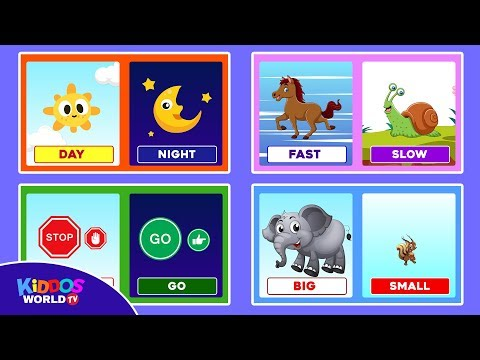 Learn Opposites for Toddlers - Opposites Flashcards - English Vocabulary for Kids