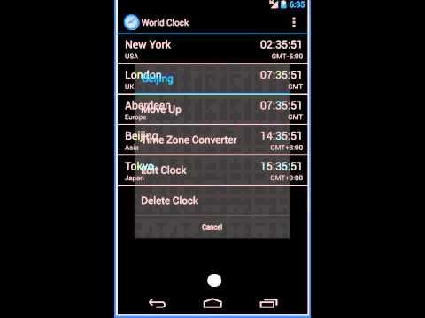 Video of World Clock & Widget