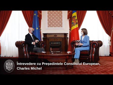 Президент Майя Санду встретилась с Председателем Европейского Совета Шарлем Мишелем