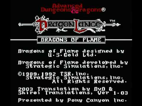 Dragons of Flame NES