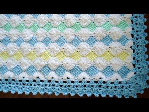 Borde en crochet para la mantita de bebé.  Parte 1